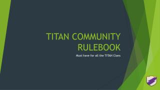 TITAN COMMUNITY RULEBOOK