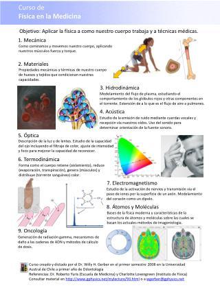 Curso de  Física en la Medicina
