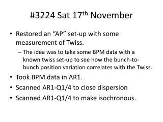 #3224 Sat 17 th  November