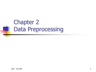 Chapter 2 Data Preprocessing