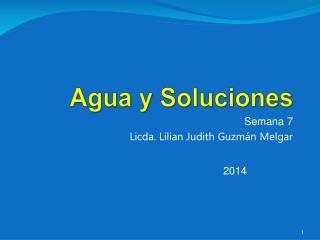 Agua  y Soluciones