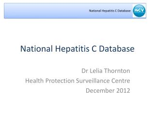 National Hepatitis C Database