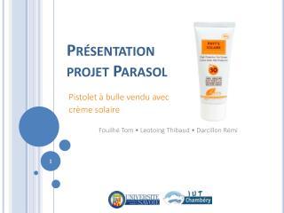 Présentation  projet Parasol