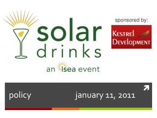 policy  january 11, 2011