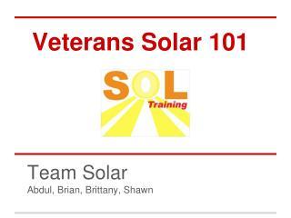 Veterans Solar 101