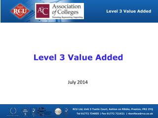 Level 3 Value Added