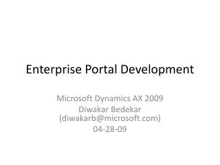 Enterprise Portal Development