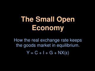 The Small Open Economy