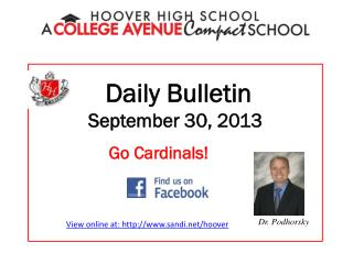 Daily Bulletin September 30, 2013