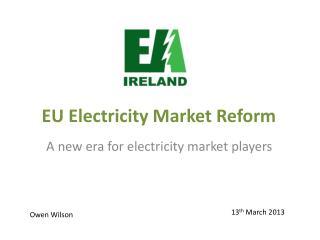 EU Electricity Market Reform