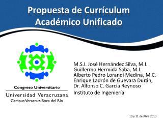 Propuesta de Currículum Académico Unificado