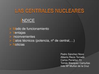 Las centrales nucleares