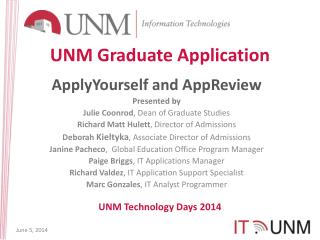 UNM Graduate Application