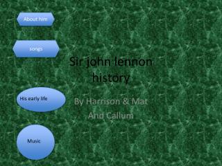 Sir john  lennon history