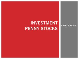 INVESTMENT  PENNY STOCKS