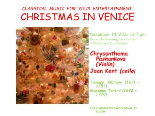CLASSICAL  MUSIC  FOR  YOUR  ENTERTAINMENT CHRISTMAS IN VENICE