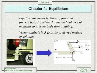Chapter 4:  Equilibrium