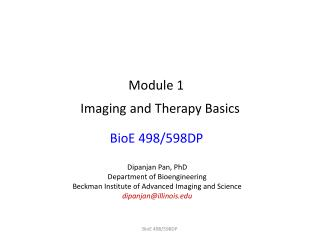 Imaging and Therapy Basics