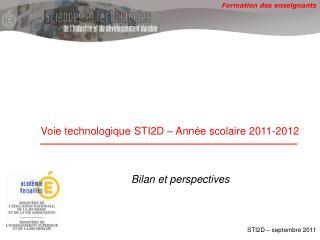 Voie  technologique  STI2D – Année scolaire 2011-2012