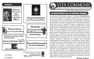 Boletín Parroquial   Septiembre 2012    Año 2  No.18