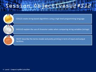 Session ObjectivesU2 #S12