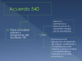 Acuerdo 540
