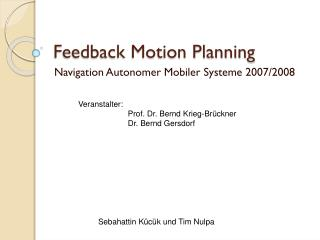 Feedback Motion Planning