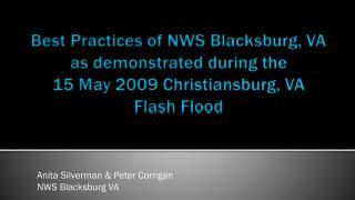 Anita Silverman & Peter Corrigan NWS Blacksburg VA