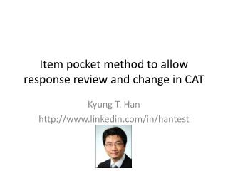 Item pocket method to allow response review and change in CAT