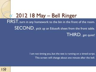 2012 18 May – Bell Ringer