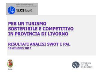 Per un turismo sostenibile e competitivo in Provincia di Livorno