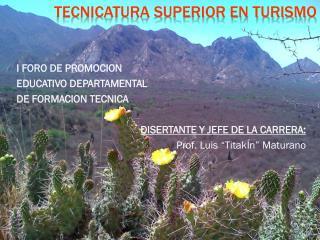 TECNICATURA SUPERIOR EN TURISMO