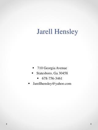 Jarell  Hensley