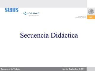 Secuencia  Didáctica