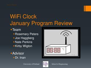 WiFi  Clock January Program Review