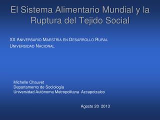 El Sistema Alimentario Mundial y la Ruptura del Tejido Social