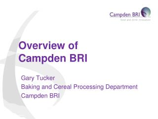Overview of Campden BRI