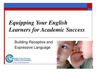 Equipping Your English Learners for Academic Success