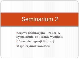 Seminarium 2