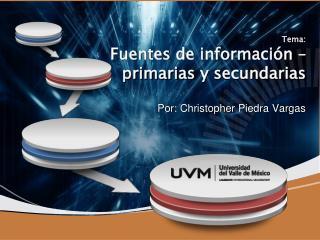 Tema : Fuentes de  información  –  primarias  y  secundarias