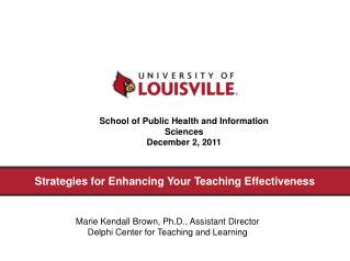 Strategies for Enhancing Your Teaching Effectiveness