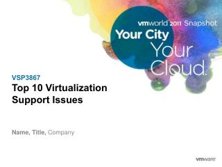 VSP3867 Top 10 Virtualization  Support Issues