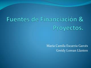 Fuentes de Financiación & Proyectos.