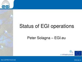 Status of EGI operations