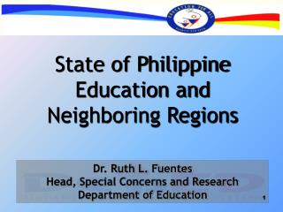 State of Philippine Education and Neighboring Regions