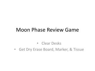 Moon Phase Review Game