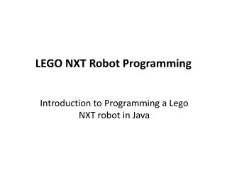 LEGO NXT Robot Programming