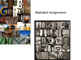 Alphabet Assignment