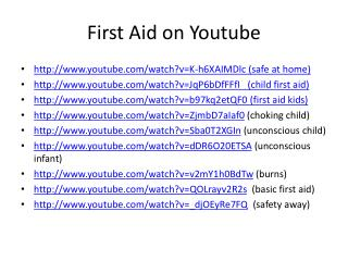 First Aid on  Youtube