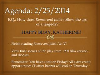 Agenda: 2/25/2014